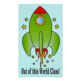 Rocket Ship Out-of-this-World Class Poster