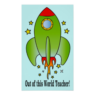 Rocket Ship Out-of-this-World Teacher Poster