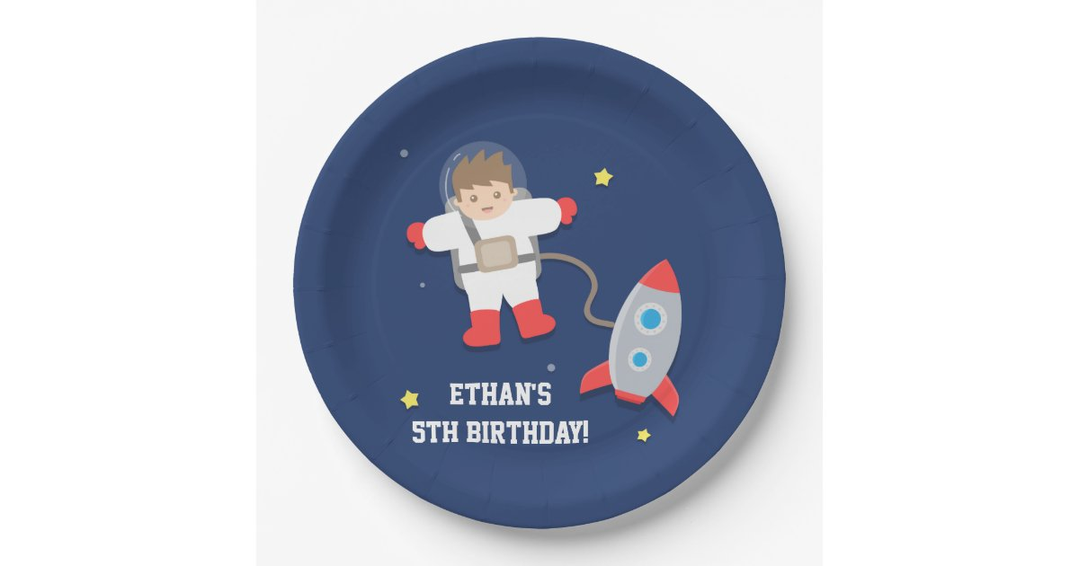 Rocket Ship Outer Space Astronaut Birthday Party Paper