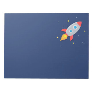 Rocket Ship, Outer Space, For Astronauts Notepad