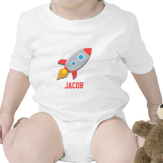 Rocket Ship, Outer Space, For Baby Boys Bodysuits