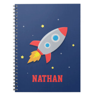 Rocket Ship, Outer Space, For Boys Notebook