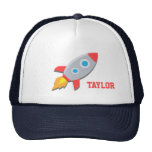 Rocket Ship, Outer Space, For Boys Trucker Hats