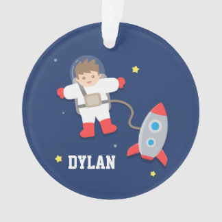 Rocket Ship Outer Space Little Astronaut Boys Room Ornament