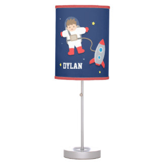 Rocket Ship Outer Space Little Astronaut Boys Room Table Lamp