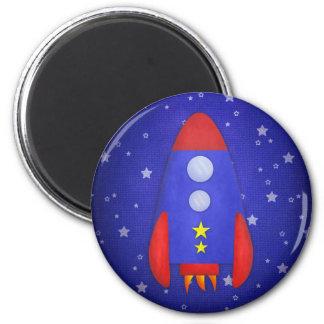Rocket Ship Party Favor Fridge Magnets
