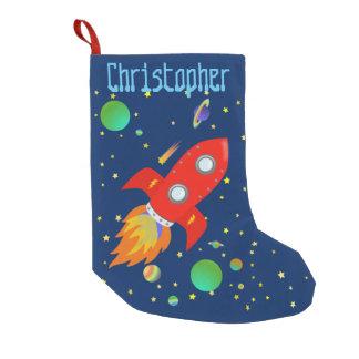 Rocket Ship Personalized Stocking Small Christmas Stocking