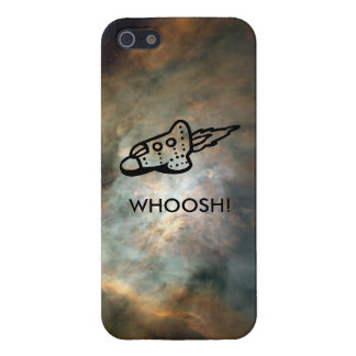 Rocket Ship Pictogram in Space Nebula Case For iPhone SE/5/5s