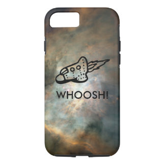 Rocket Ship Pictogram in Space Nebula iPhone 8/7 Case