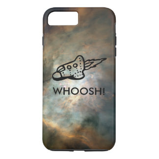 Rocket Ship Pictogram in Space Nebula iPhone 8 Plus/7 Plus Case