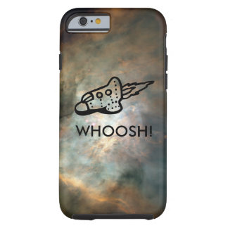 Rocket Ship Pictogram in Space Nebula Tough iPhone 6 Case
