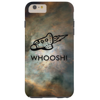 Rocket Ship Pictogram in Space Nebula Tough iPhone 6 Plus Case