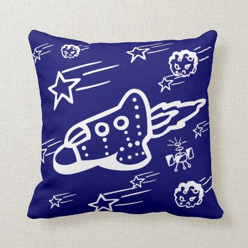 rocket ship pillow