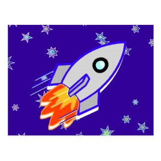 Rocket Ship Postcards