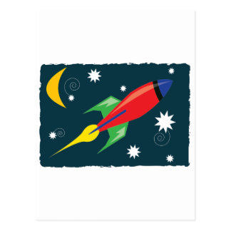 Rocket Ship Postcard