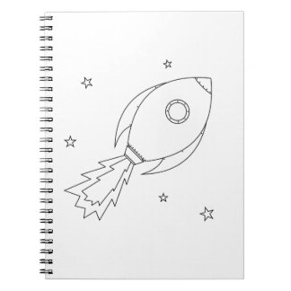 Rocket Ship Spiral Notebook