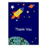 Rocket Ship Thank You Card