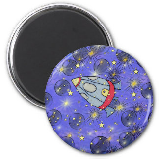 rocket ship to space refrigerator magnets