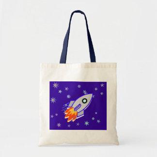 Rocket Ship Tote Bag