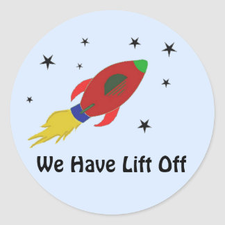 Rocket Ship with Saying Stickers
