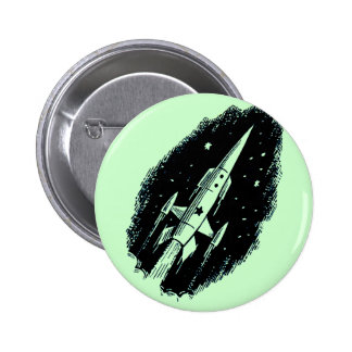 Rocket Ship X-11 Pinback Button