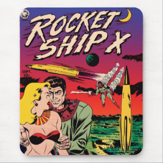 Rocket Ship X Mouse Pad