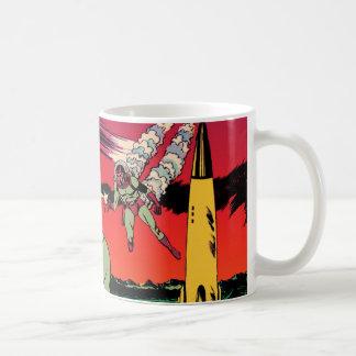 Rocket Ship X Vintage Sci Fi Comic Book Cover Coffee Mug