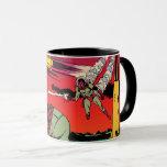 Rocket Ship X Vintage Sci Fi Comic Book Cover Mug
