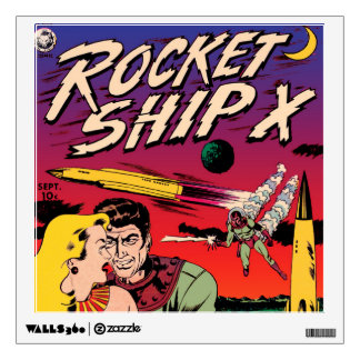 Rocket Ship X Wall Sticker