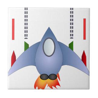 Rocket Shower Party Birthday Celebration Destiny Ceramic Tiles