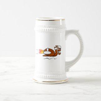 Rocket Snail Cartoon Mug