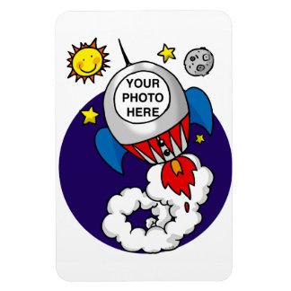 rocket space birthday kid magnet