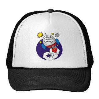 rocket space kid - add your own photo trucker hat