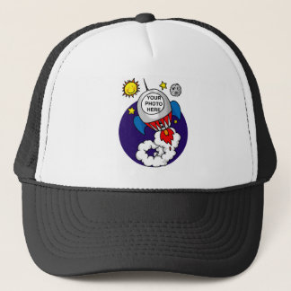 rocket space kid - add your own photo trucker hat
