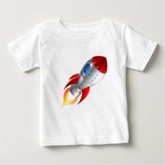 Rocket Space Ship Cartoon Baby T-Shirt