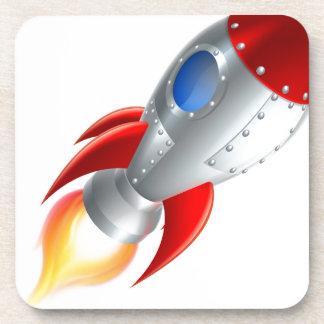 Rocket Space Ship Cartoon Coaster