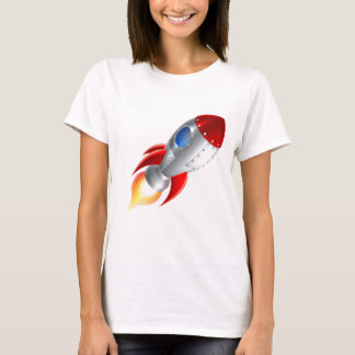 Rocket Space Ship Cartoon T-Shirt