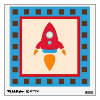 Rocket Space Ship Nursery Kids Wall Decal