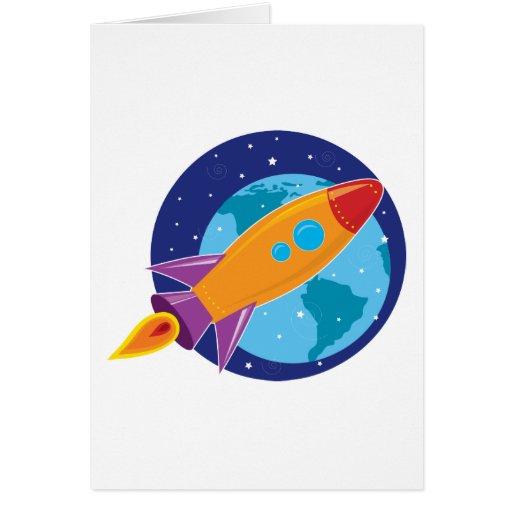 Rocket Tarjeta De Felicitación
