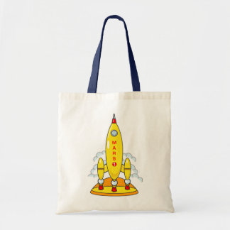 Rocket To Mars Tote Bag
