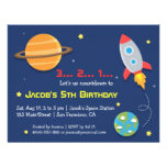 Rocket To Outer Space Party, Kids Birthday Announcement