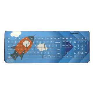 Rocket To Space - Geek Kids Wireless Keyboard