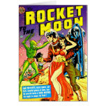Rocket to the Moon Card