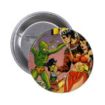 Rocket to the Moon Comic Pinback Buttons