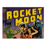 Rocket to the Moon Comic Post Cards