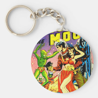 Rocket to the Moon Keychain