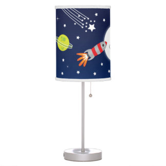 Rocket to The Moon Lamp for Kids