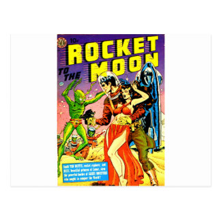 Rocket to the Moon Postcard