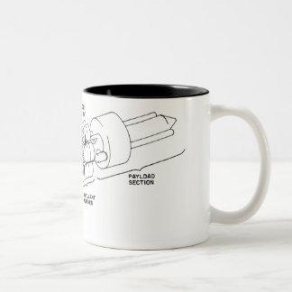 Rocket Two-Tone Coffee Mug