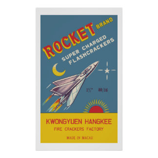 Rocket Vintage Chinese Firecracker Posters